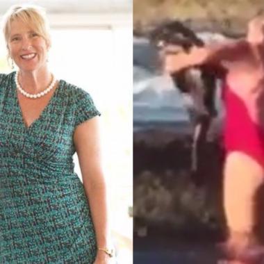 بالفيديو: ضج بها فايسبوك لأنها التقطت سمكة قرش بيديها