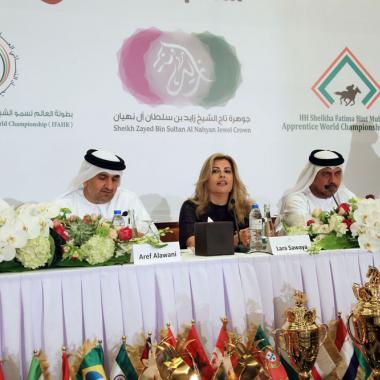 النسخة التاسعة  للمهرجان العالمي لسمو الشيخ منصور بن زايد آل نهيان للخيول العربية الأصيلة