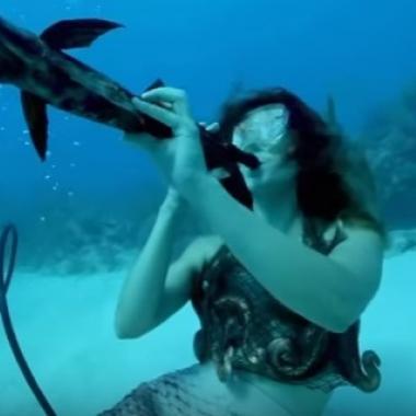 بالفيديو: حفل موسيقي تحت الماء