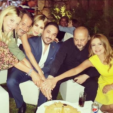 وزير الإعلام وجان ماري رياشي يحتفلان بعيد ميلاد رامي عياش