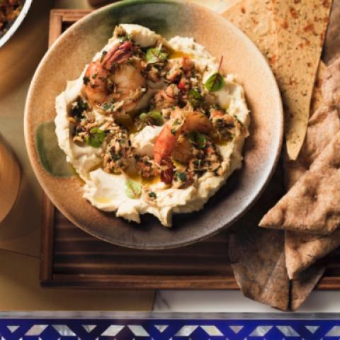 من وصفات الطهاة: حمص مع قشريات بالكاجون