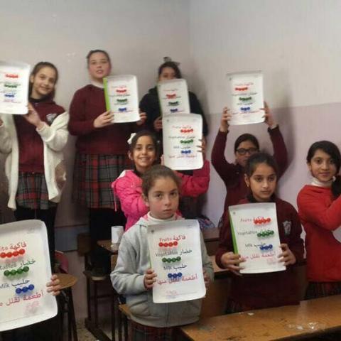 """أطفال فلسطين يستهلكون ضعف كمية الفواكه والخضار بعد تطبيق برنامج """"نستله أجيال سليمة"""""""