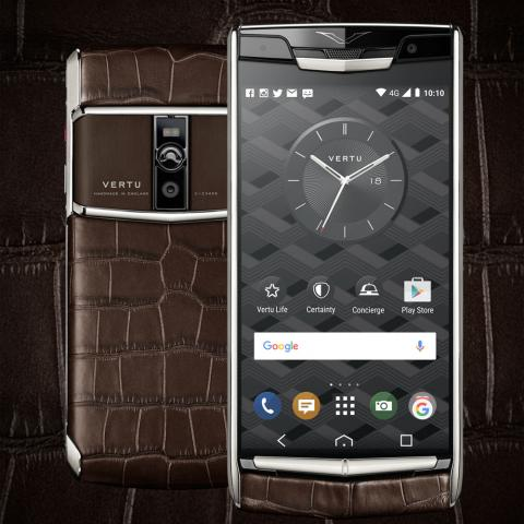 هاتف Signature Touch Cocoa Alligator من VERTU