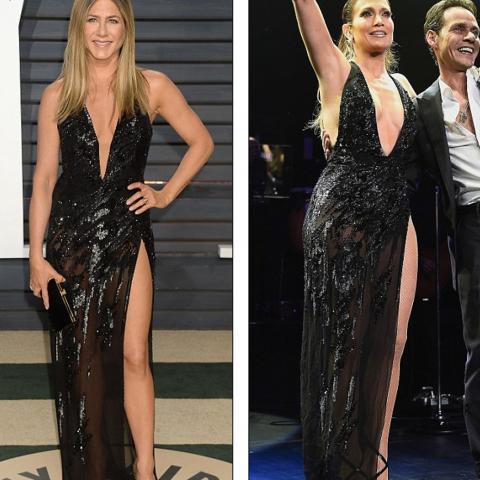 جينيفر أنيستون ارتدت فستان جينيفر لوبيز.. فمن الأجمل؟
