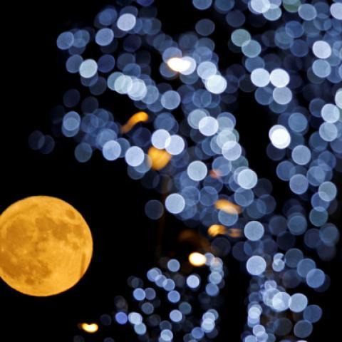 بالصور: القمر العملاق يودّع العام 2017