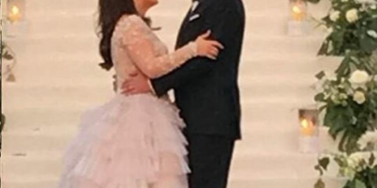 صور من حفل الزفاف الثاني لكندة علوش وعمرو يوسف