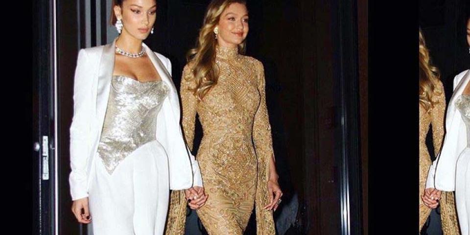 جيجي وبيلا حديد تشعّان ذهباً وفضة