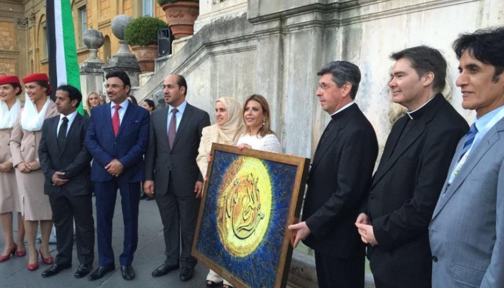 زيارة تاريخية للفاتيكان لوفد مهرجان منصور بن زايد