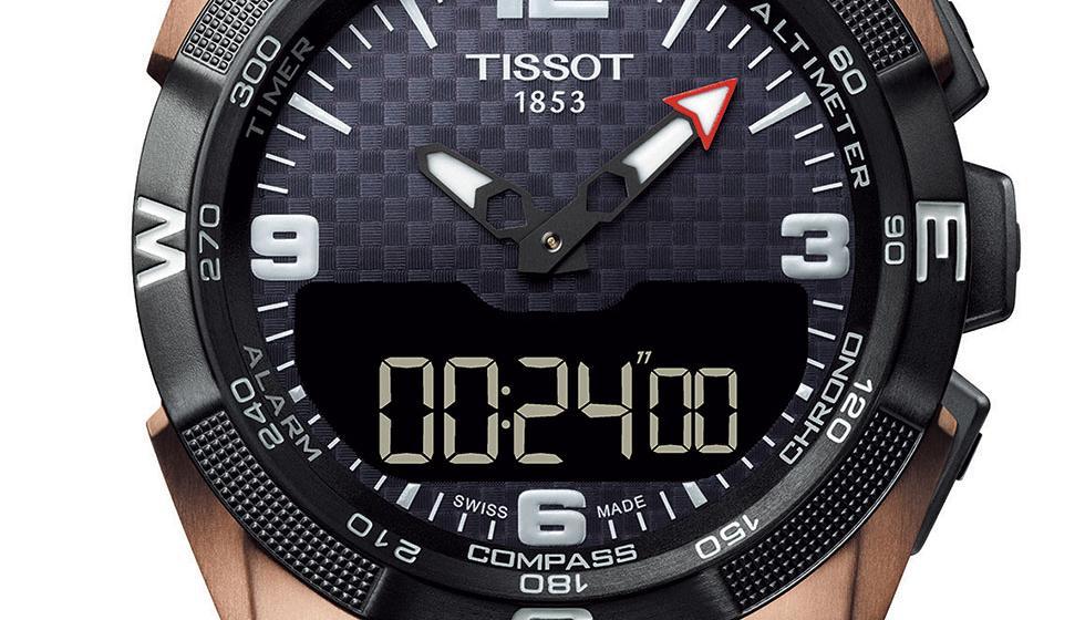 ساعة تيسو الجديدة، رياضية بامتياز