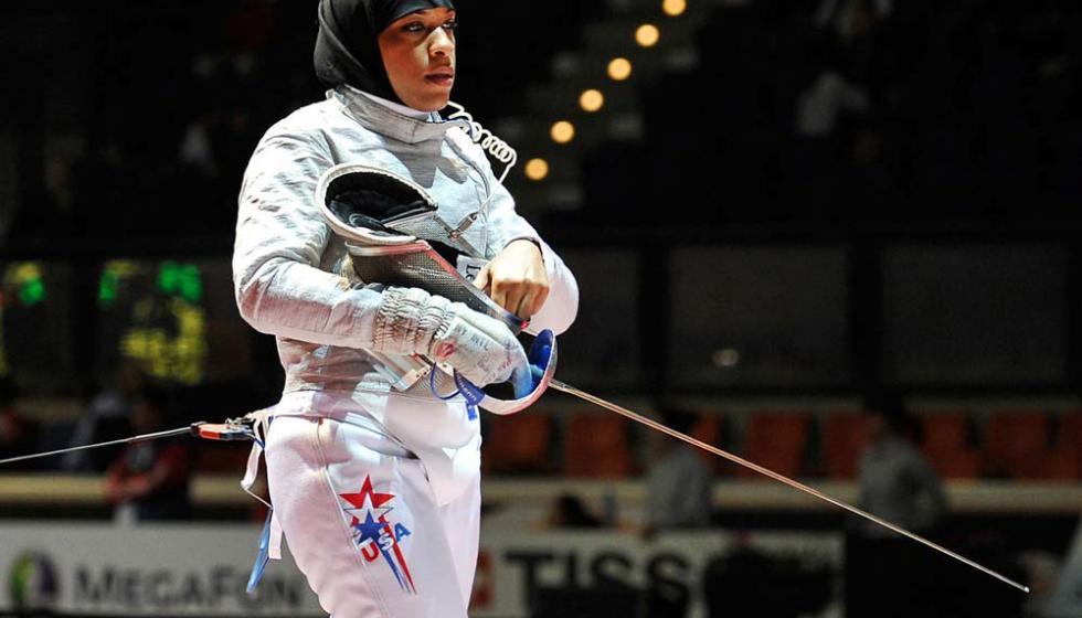 اوّل محجّبة اميركيّة في الاولمبياد خسرت امام فرنسيّة