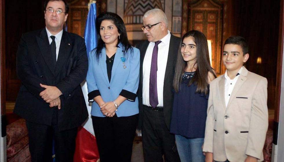 وسام الاستحقاق الوطني الفرنسي برتبة فارس للناشطة أنطوانيت شاهين