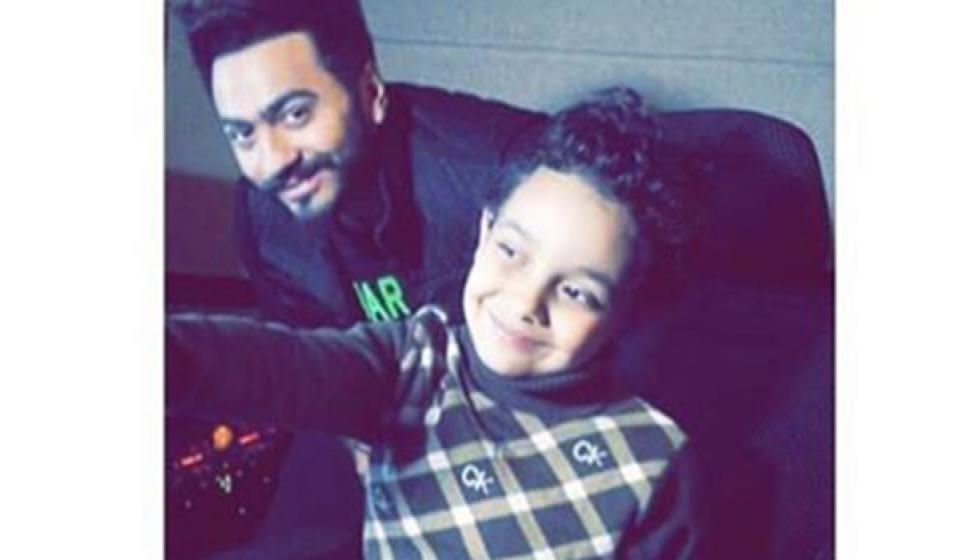 تامر حسني وأغنية مع السيسي الصغير
