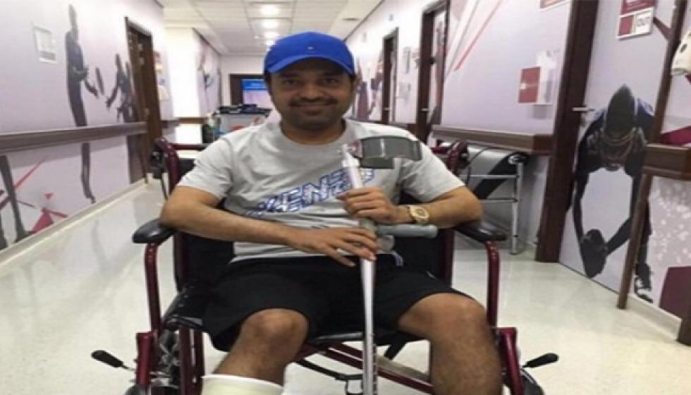 عين وأصابته: راشد الماجد يكسر رجله بعد عودته الى الغناء