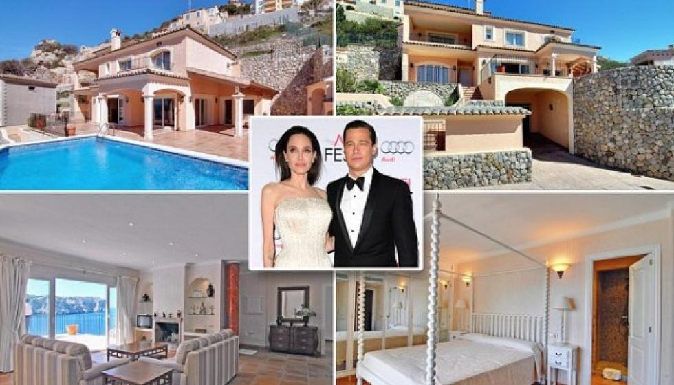 براد بيت يهدي انجلينا جولي فيلا بـ 2 مليون 65 الف يورو