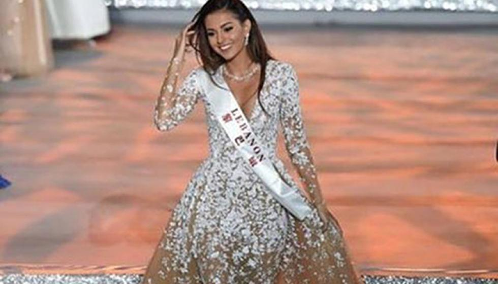 """ملكة جمال لبنان وصيفة رابعة على """"عرش العالم"""""""